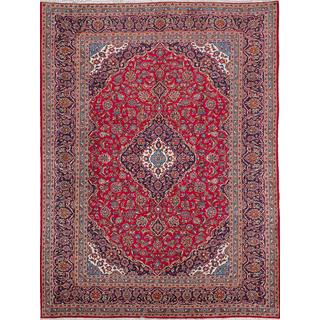 ecarpetgallery Hand-knotted Persian Kashan Red Wool Area Rug (9'11 x 12'11)