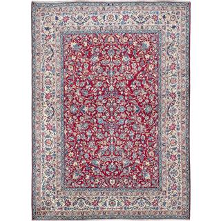 ecarpetgallery Hand-knotted Persian Yazd Red Wool Area Rug (9'10 x 13'4)