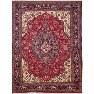 ecarpetgallery Hand-knotted Persian Tabriz Red Wool Area Rug (9'8 x 12'9)