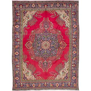 ecarpetgallery Hand-knotted Persian Tabriz Red Wool Area Rug (9'8 x 13'0)