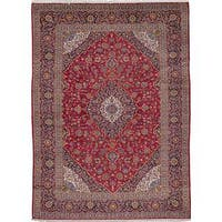 ecarpetgallery Hand-knotted Persian Kashan Red Wool Area Rug (9'9 x 13'3)
