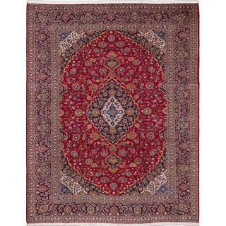 ecarpetgallery Hand-knotted Persian Kashan Red Wool Area Rug (9'9 x 12'9)
