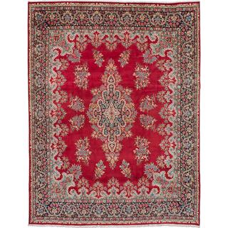 ecarpetgallery Hand-knotted Persian Kerman Red Wool Area Rug (9'9 x 12'10)