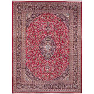 ecarpetgallery Hand-knotted Persian Kashmar Red Wool Area Rug (9'9 x 12'7)