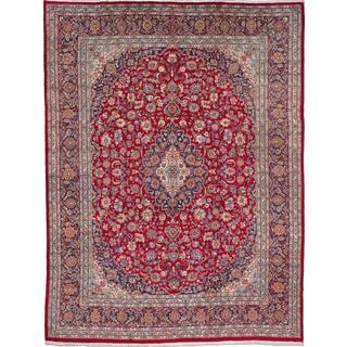 ecarpetgallery Hand-knotted Persian Kashmar Red Wool Area Rug (9'11 x 12'11)