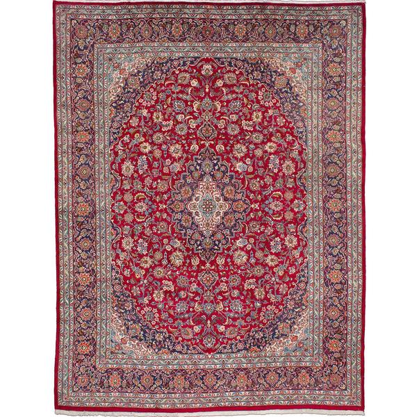 Shop Ecarpetgallery Hand Knotted Persian Kashan Red Wool: Shop Ecarpetgallery Hand-knotted Persian Kashmar Red Wool