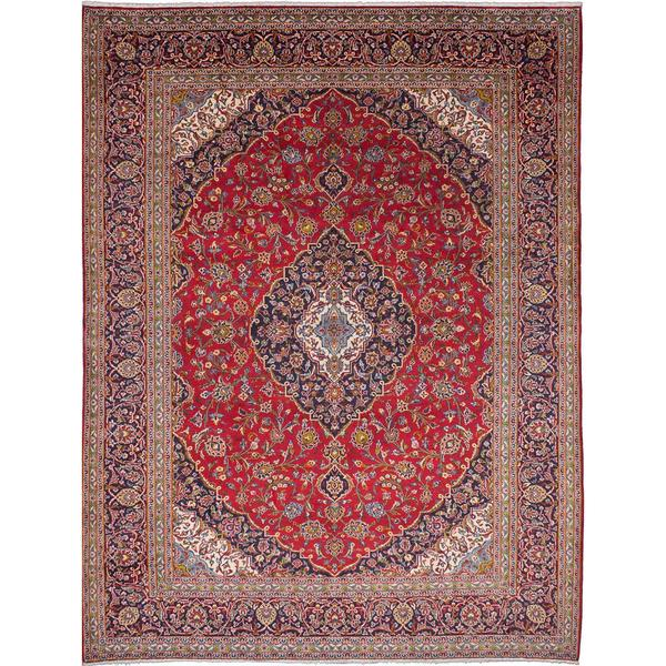 Hand Knotted Persian Kashan Wool Area Rug Ebth: Shop Ecarpetgallery Hand-knotted Persian Kashan Red Wool