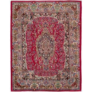 ecarpetgallery Hand-knotted Persian Mashad Red Wool Area Rug (9'9 x 12'5)