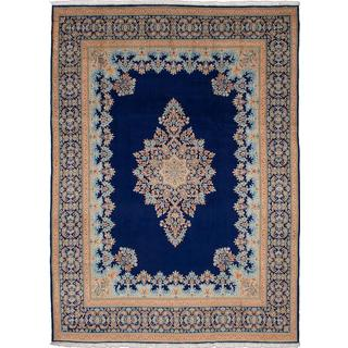 ecarpetgallery Hand-knotted Persian Kerman Blue Wool Area Rug (9'11 x 13'6)