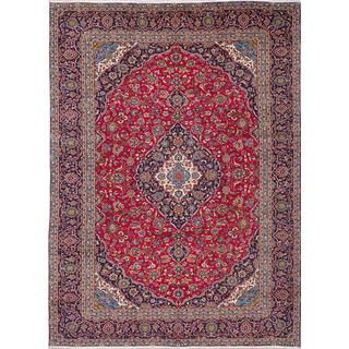 ecarpetgallery Hand-knotted Persian Kashan Red Wool Area Rug (9'7 x 12'11)