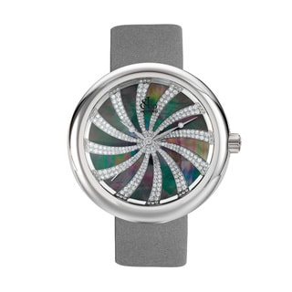 Jacob & Co Dazzling Diamond Dial Women's Grey Satin Strap Watch