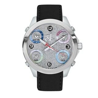 Jacob & Co Women's Multi-Time Zone Diamond Dial JC132SS Watch