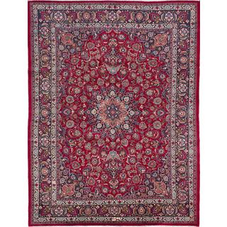 ecarpetgallery Hand-knotted Persian Mashad Red Wool Area Rug (9'10 x 12'8)