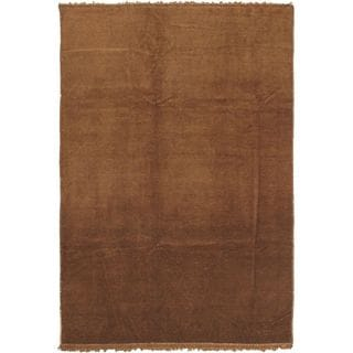 ecarpetgallery Hand-knotted Color Transition Brown Wool Area Rug (6'5 x 10'1)
