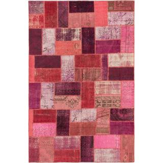 ecarpetgallery Hand-knotted Color Transition Patch Red Wool Area Rug (6'8 x 10'2)