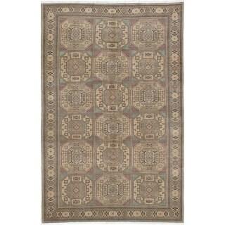 ecarpetgallery Hand-knotted Keisari Beige Wool Area Rug (6'5 x 10'0)