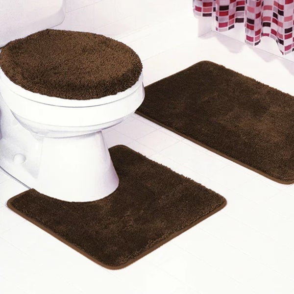 lovely 3 Piece Bath Rug Part - 6: Frieze 3-Piece Bathroom Rug Set - 18 x 30