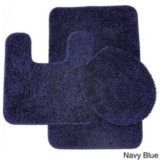 Frieze 3 Piece Bathroom Rug Set. Blue Bath Rugs  amp  Bath Mats   Shop The Best Deals For Apr 2017