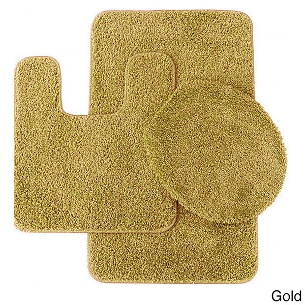 Frieze 3 Piece Bathroom Rug Set   18 X 30   Free Shipping On Orders Over  $45   Overstock.com   18631193