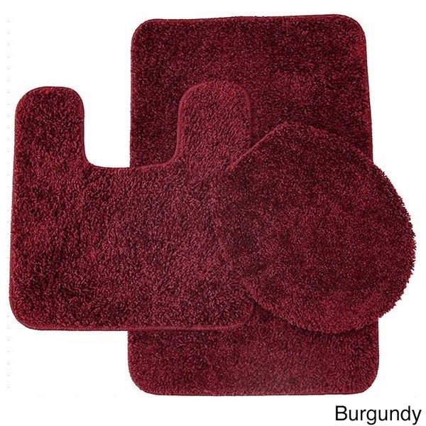 frieze 3-piece bathroom rug set - free shipping on orders over $45