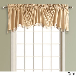 Anna Solid Color Faux Silk Austrian Valance