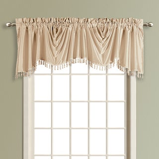 Luxury Collection Anna Solid Color Faux Silk Austrian Valance