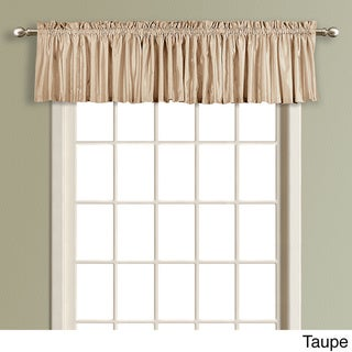 Anna Solid Color Faux Silk Lined Straight Valance