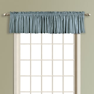 Luxury Collection Anna Solid Color Faux Silk Lined Straight Valance (Option: Taupe)