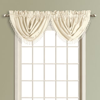 Anna Solid Color Faux Silk Waterfall Valance