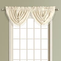 Luxury Collection Anna Solid Color Faux Silk Waterfall Valance