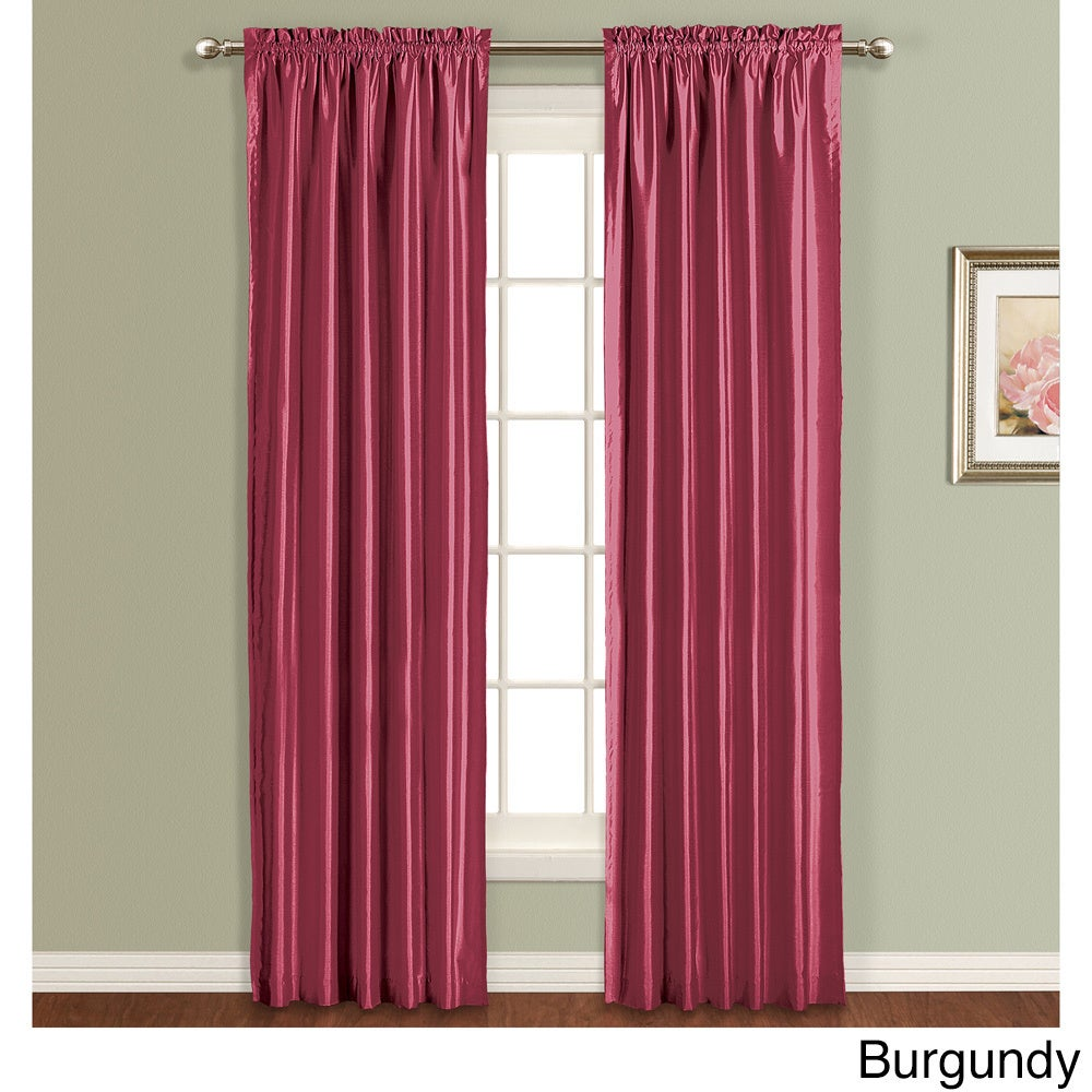 The Luxury collection Lincoln Faux Silk Lined Curtain Pan...