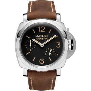 Panerai Men's PAM00423 '1950 Power Reserve' Mechanical Hand Wind Brown Leather Watch