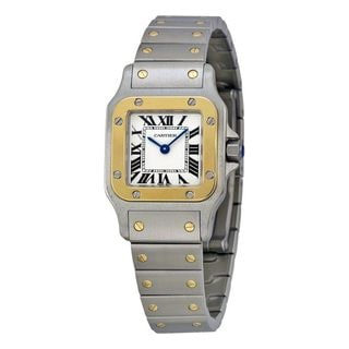 Cartier Women's W20012C4 'Santos' 18kt Yellow Gold Stainless Steel Watch