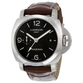 Panerai Men's PAM00320 'Luminor 1950 Acciaio' 3 Days Automatic Brown Leather Watch|https://ak1.ostkcdn.com/images/products/11708539/P18631339.jpg?impolicy=medium