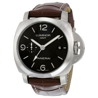 Panerai Men's PAM00320 'Luminor 1950 Acciaio' 3 Days Automatic Brown Leather Watch