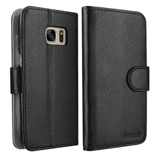Insten Black Leather Case Cover with Stand/ Wallet Flap Pouch/ Photo Display For Samsung Galaxy S7/ S7 Edge