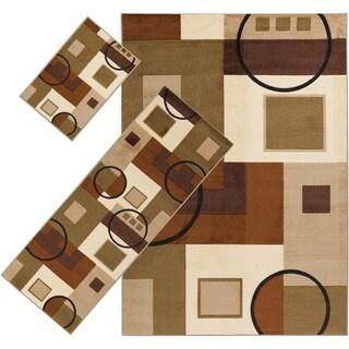 Hedding Nylon Area Rug (3-piece Set) - 5' x 7'