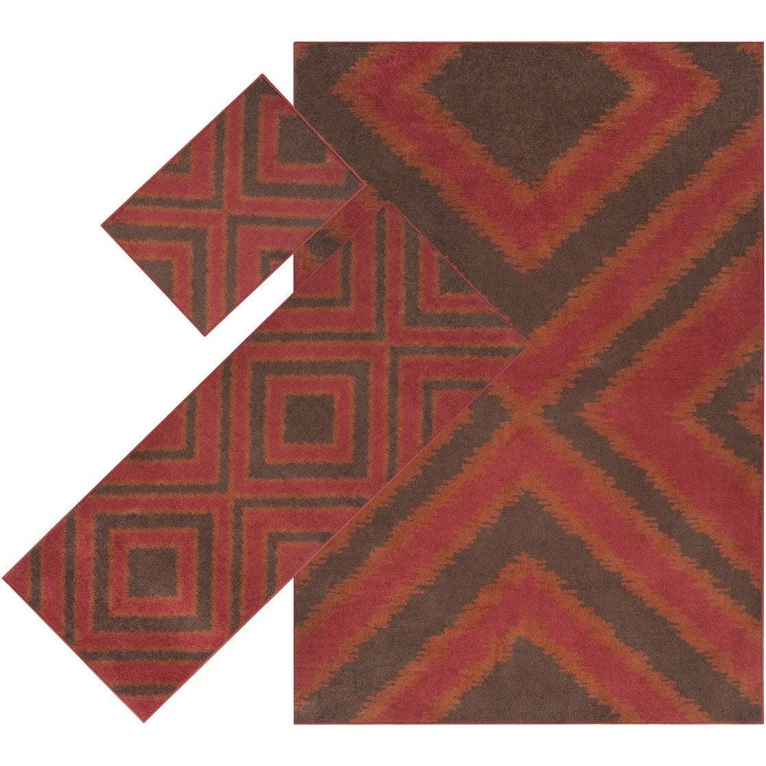 Windward Machine Made Hemlock Nylon Rug (3-Piece Set) (Co...