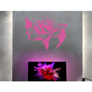 Beautiful flower Wall Art Sticker Decal Pink
