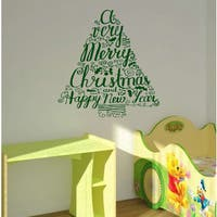 Christmas tree Wall Art Sticker Decal Green