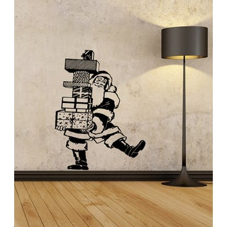 Santa Claus with gifts Wall Art Sticker Decal