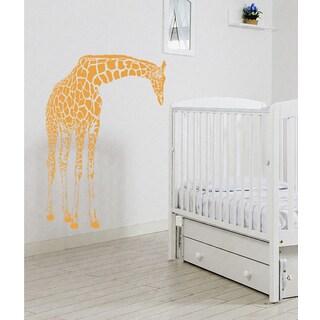 Giraffe Wall Art Sticker Decal Orange