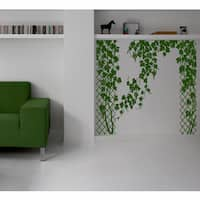 Beautiful flowers applique plant Wall Art Sticker Decal Green