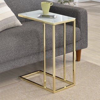 End Table with Frosted Glass Top