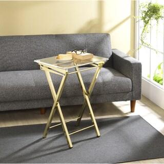 Mari Folding Tray Table   Set Of 2