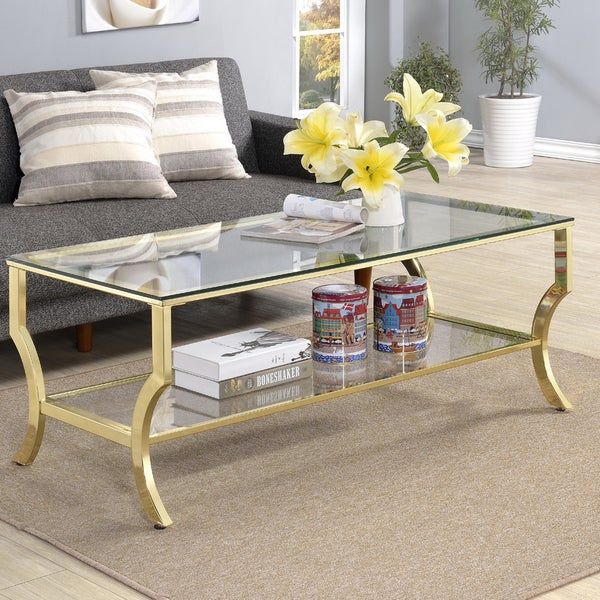 Gold Outdoor Coffee Table: Shop Amy Glass Coffee Table