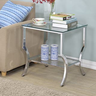 Amy Glass End Table - Silver