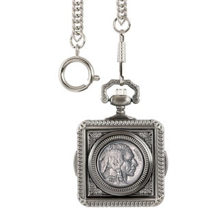 American Coin Treasures Buffalo Nickel Square Pocket Watch