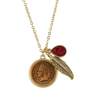 Indian Penny Charm Necklace
