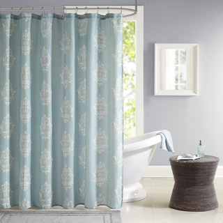 Madison Park Kensington Texture Printed Shower Curtain - 3 Color Option